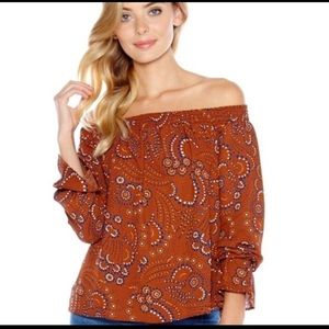 Three Eighty Two Evangeline Off Shoulder Top NWT S